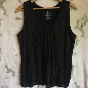New York & Company Black Lace Tank